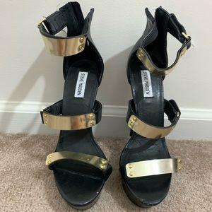 Steve Madden Areaa Black Heel Sandal 10